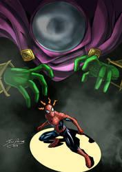 Spiderman vs Mysterio by Jero-Pastor-Art