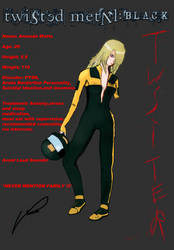 Amanda Watts (Twisted metal black): Driver info by RedDragonEnigma