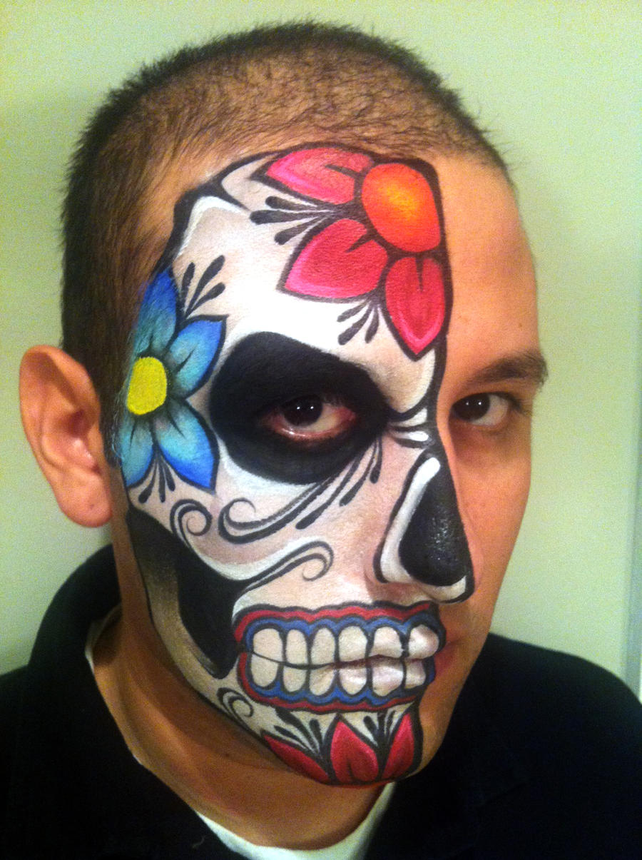 Day Of The Dead Makeup Male Day Of The Dead Make Up Tutorial Male