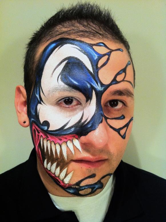 venom spiderman face paint wwwimgkidcom the image
