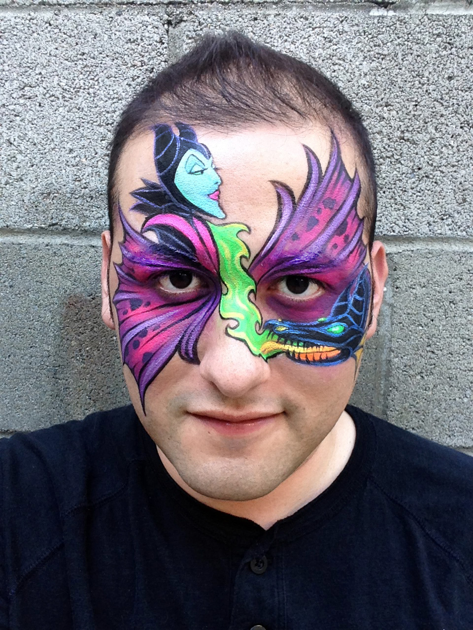 Maleficent Face Painting by RonnieMena on DeviantArt