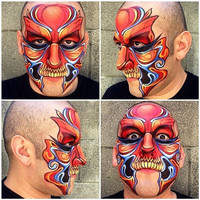 Abstract Face Painting by RonnieMena