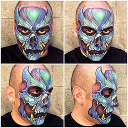 Blue Skull by RonnieMena