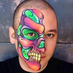Neon Skull by RonnieMena