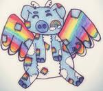 Rainbow Flying Pig Plushie Adopt- ON HOLD by KatyaThePANda107