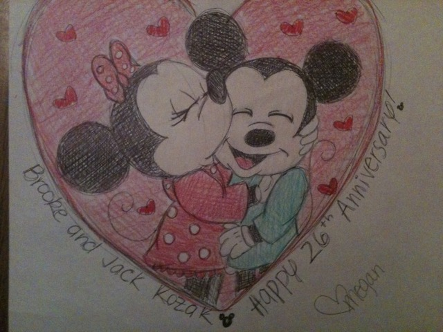 Mickey And Minnie Mouse Anniversary Card By Boggin On