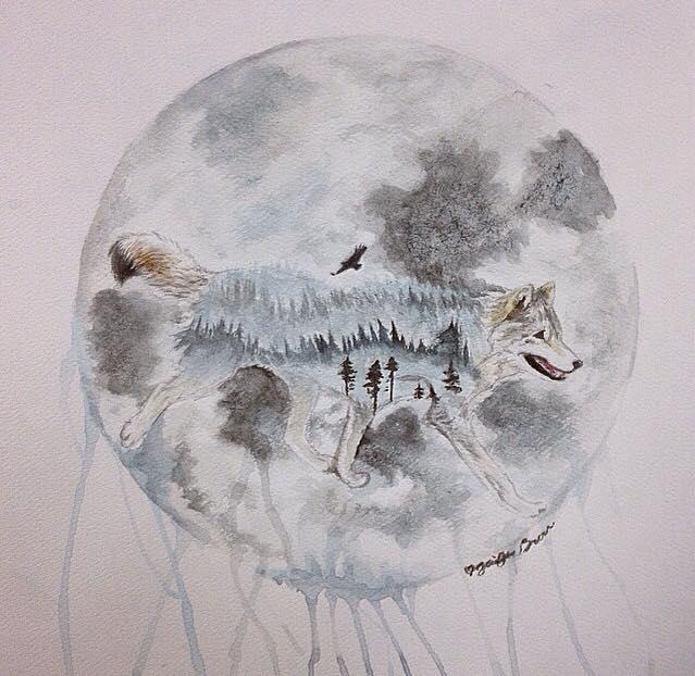 Wolf Painting by pandaloverlol