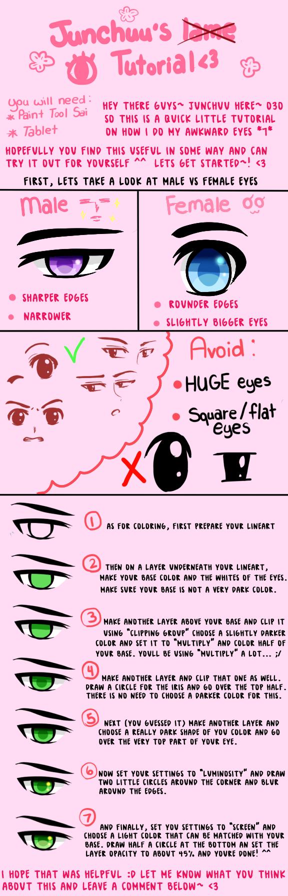 Eye Tutorial by Junchuu