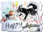 Hallowen postcard