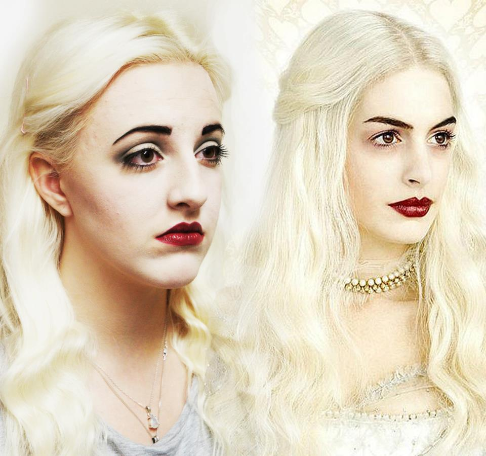 Anne Hathaway Drawing: Anne Hathaway White Queen Comparison By EmileeGibbons On