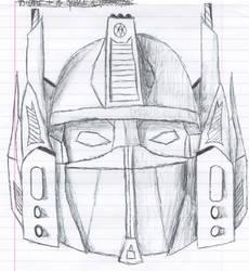 Optimus Prime Faceplate Sketch