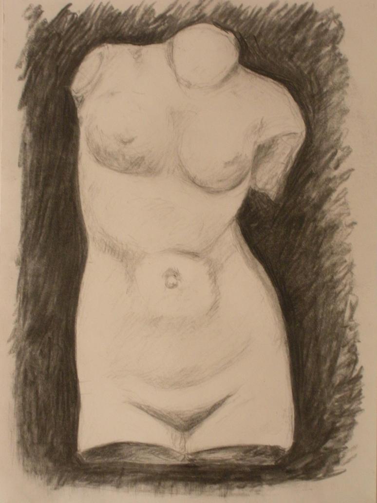 female torso by VojtechJanousek