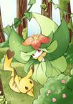 pikachu and lilligant