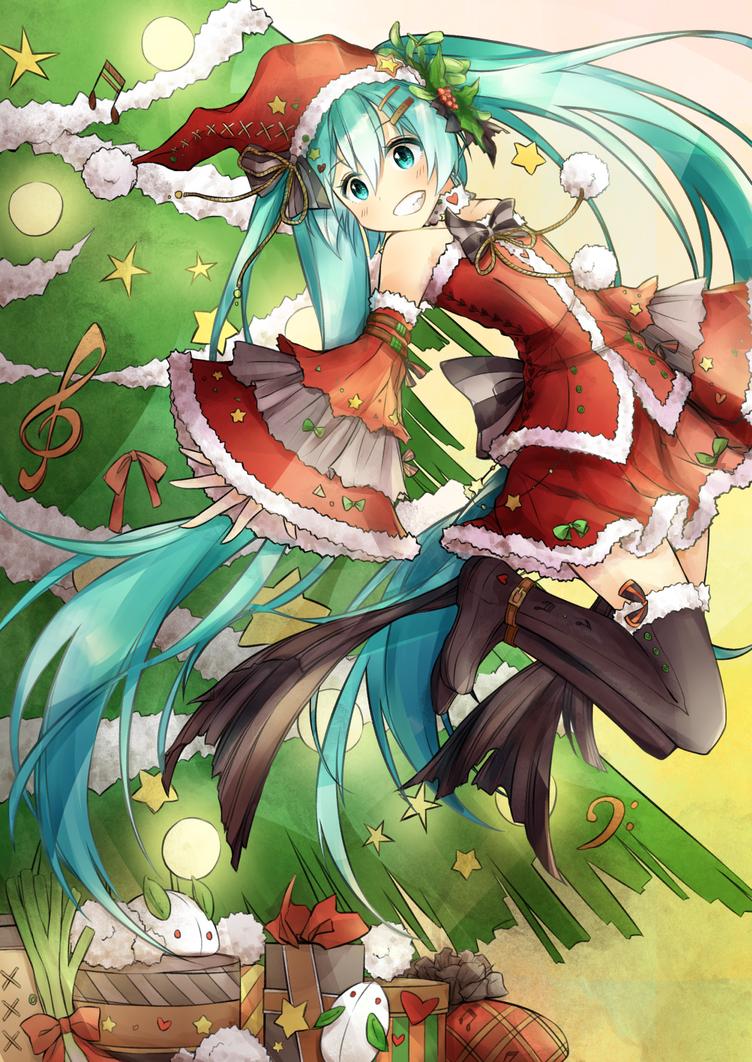 Miku Christmas by destizeph