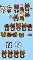Tom Nook and Friends (Unfinished Sprite Sheet)