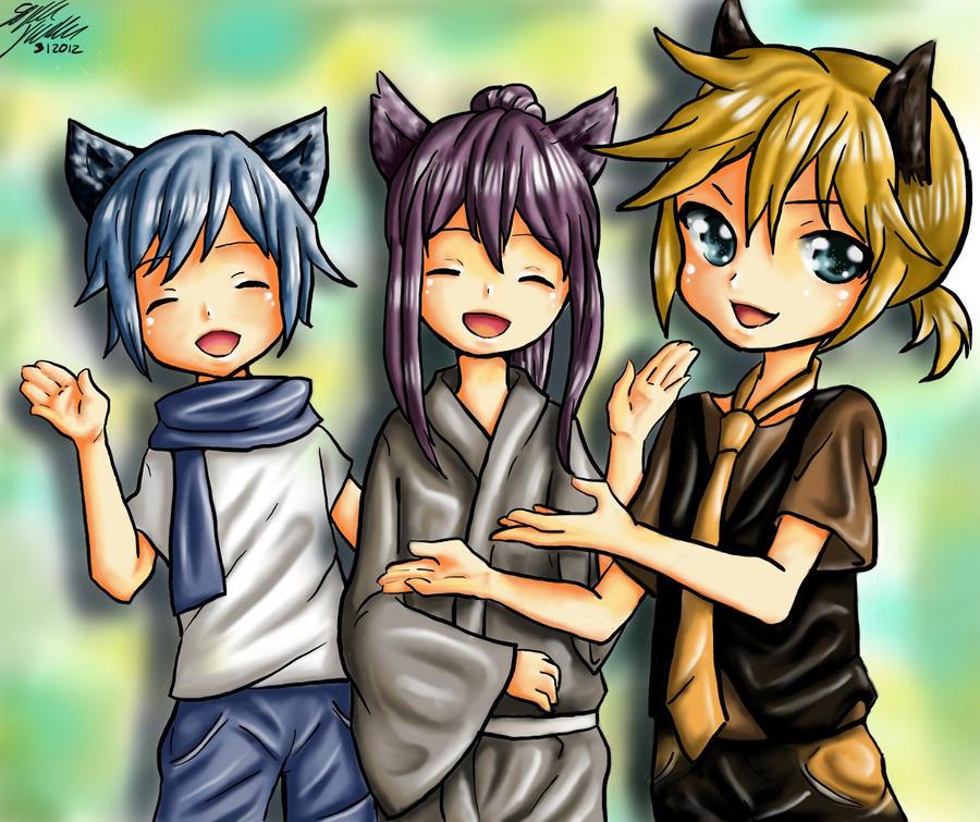 Len, Gakupo and Kaito by oOyuuchanOo on DeviantArt Kaito X Len X Gakupo