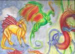 Dragon Collage Left Side