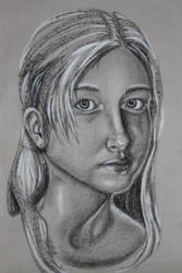 Charcoal Self Portrait by RuthlessWolves