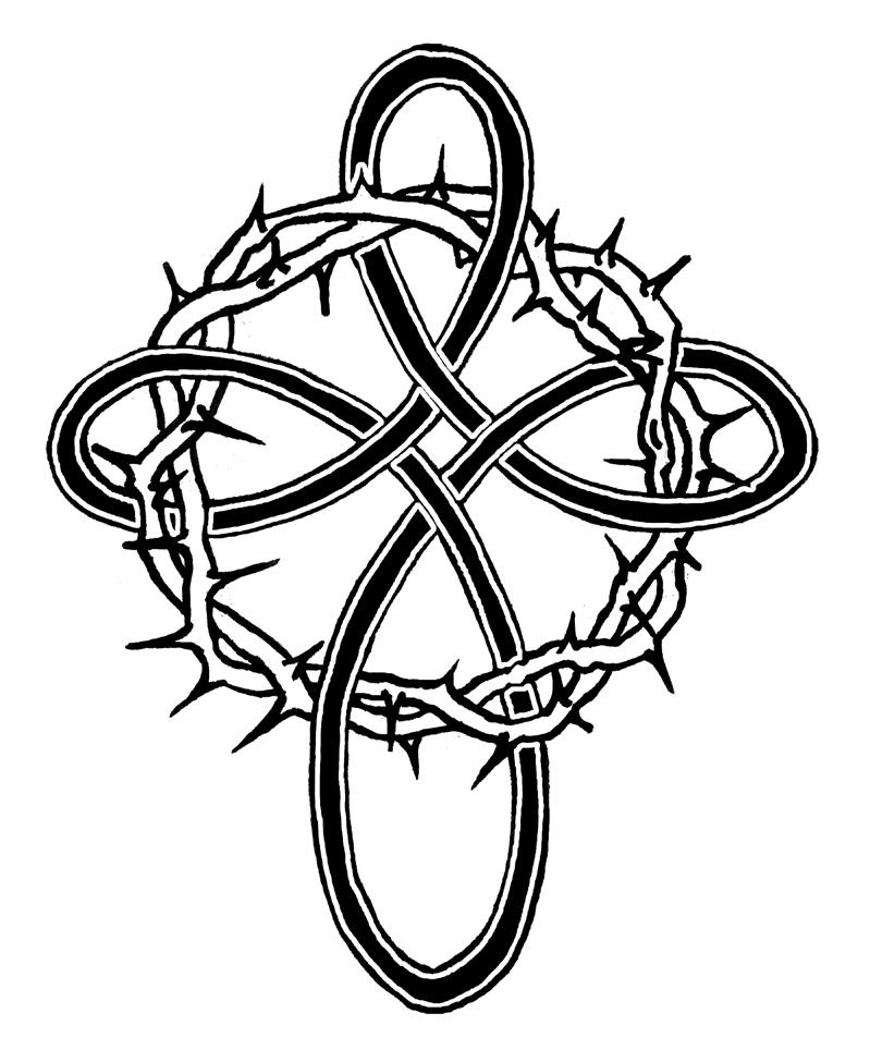 Cross with roses coloring pages the for Coloring pages of crosses and roses