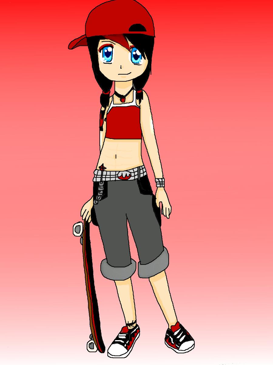 Cartoon Girl Black Hair And Glasses