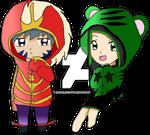 Kai and Sammi Bitbeast Hoodies