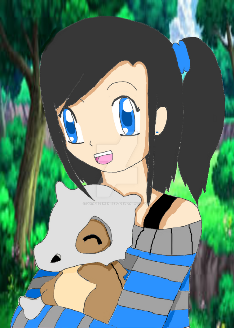 Crystal and Cubone by DarkElements10