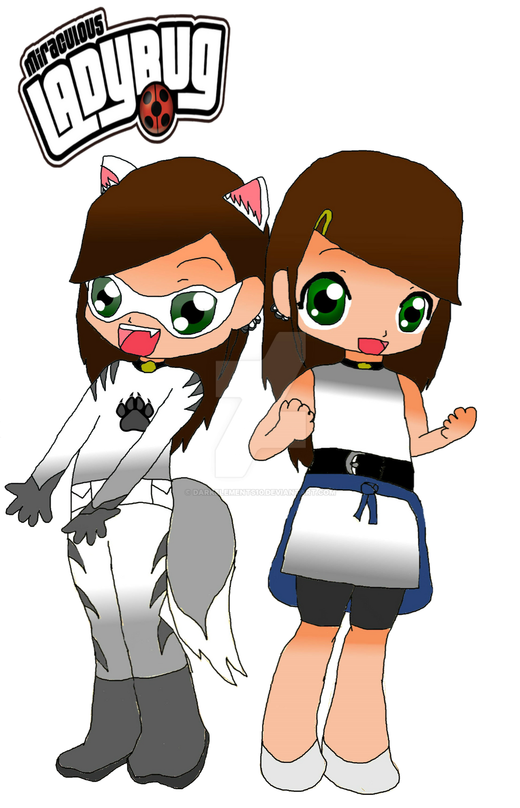 Miraculous Wolfsbane And Cassie By DarkElements10 On