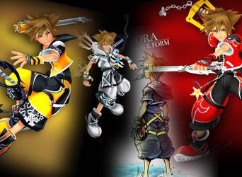 Kingdomhearts II: Sora by DarkElements10
