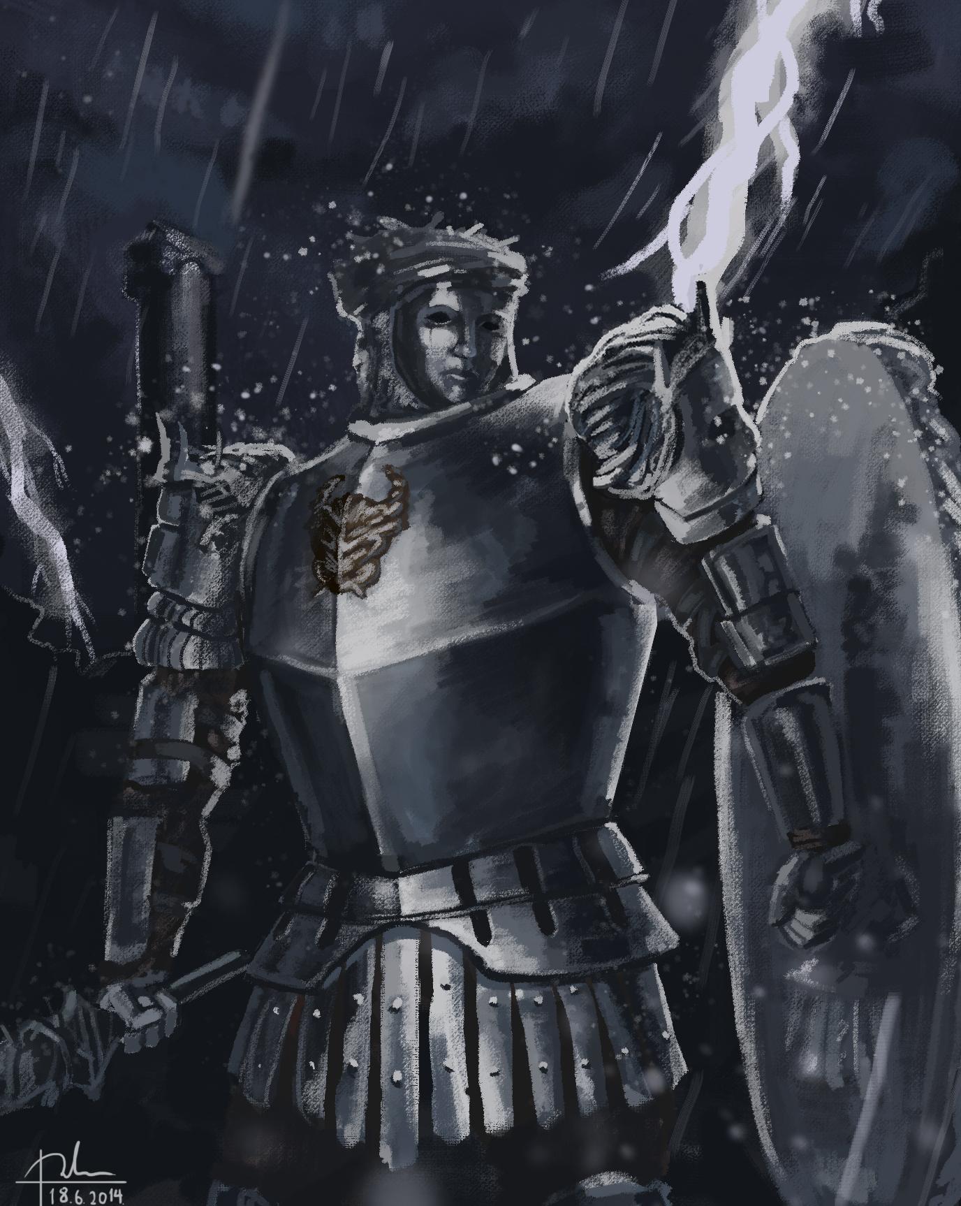 Dark souls 2 looking glass knight by sharkalpha on deviantart for Mirror knight
