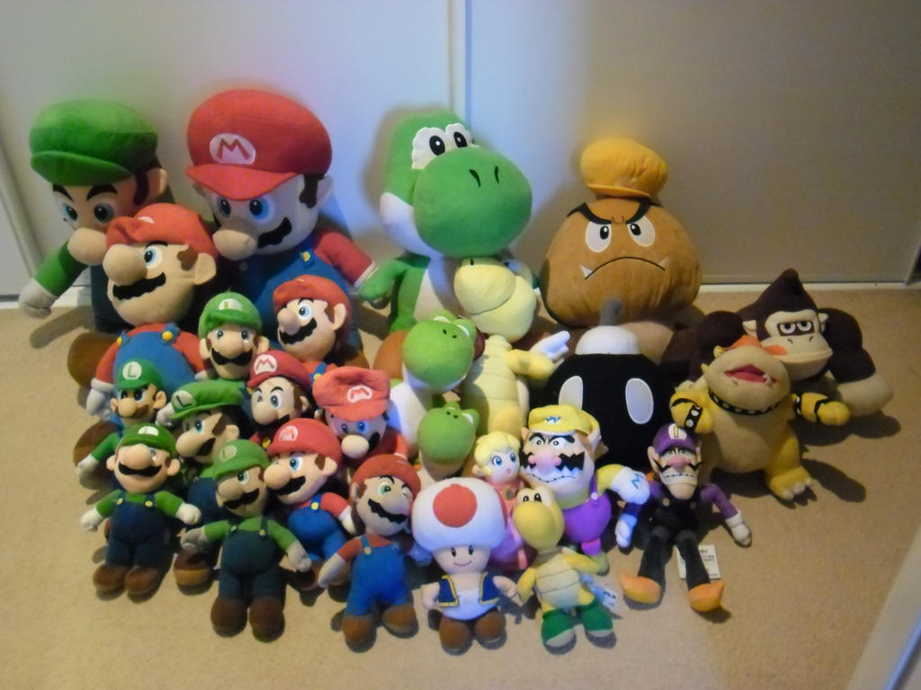 My Mario Plush Collection by LuigiBroZ