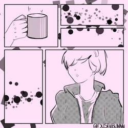 Screen Toned Coffee Time
