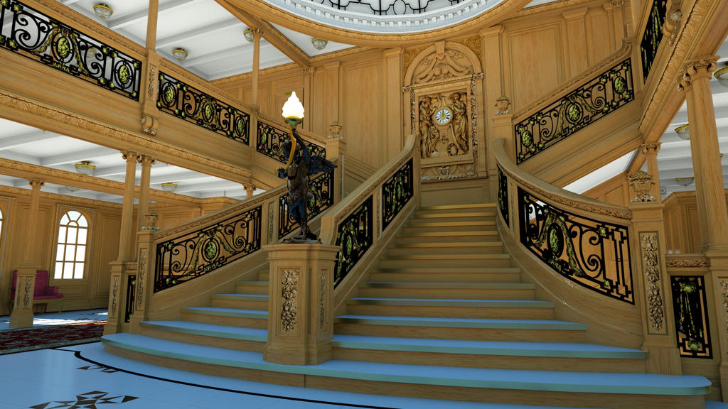 R.M.S. Titanic Grand Staircase Render Day by Nyan1990 on ...