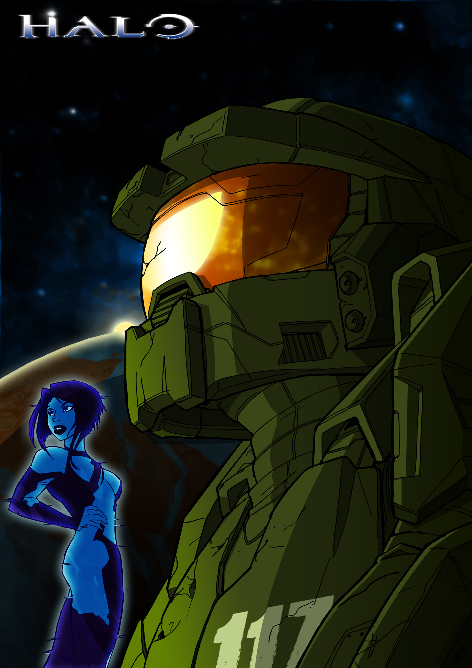 Chief and cortana by noprips by spetnaz1982 on deviantart