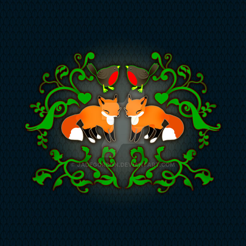 Forest Friend Fox by JadeGordon