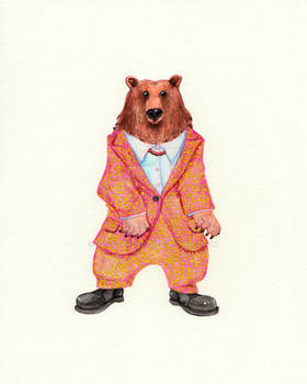 Bear in a Suit