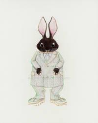 Bunny in Menswear