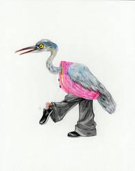 Heron in Menswear