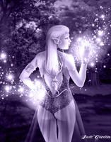 Fantasy Elf Monochrome by JadeGordon