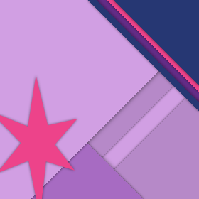 Twilight Sparkle Material Design Watch Wallpaper by legomaniack