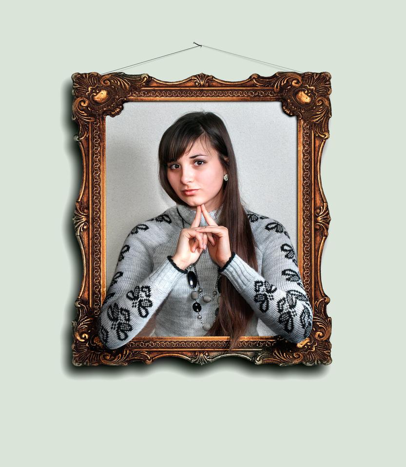 Portrait on the wall by hobu4ohok