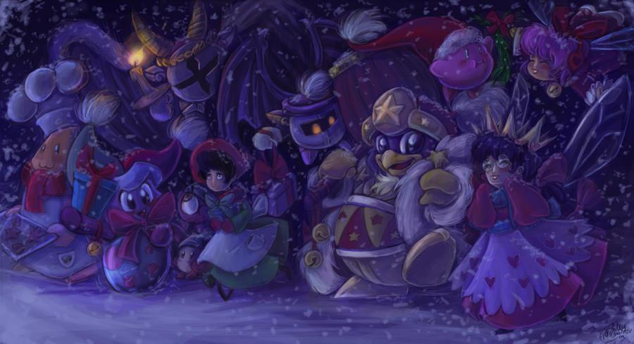 Happy Holidays kirby by Evanatt
