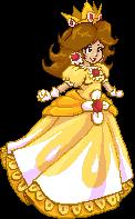 Princess Daisy pixel by Evanatt