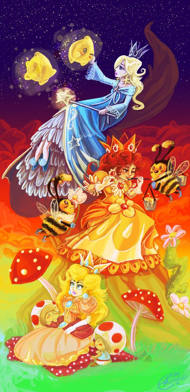 Mama Mia princesses by Evanatt