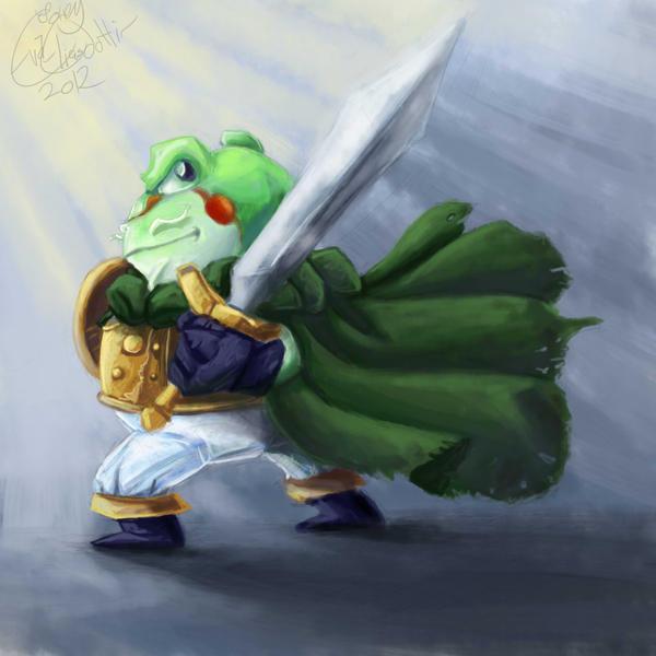 Chrono trigger Frog by Evanatt