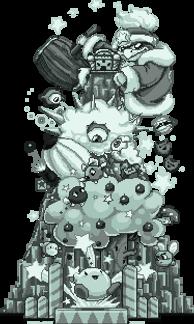 Kirby 20 year pixel by Evanatt