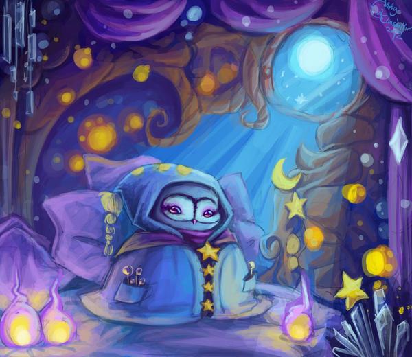 Fortune teller owl by Evanatt