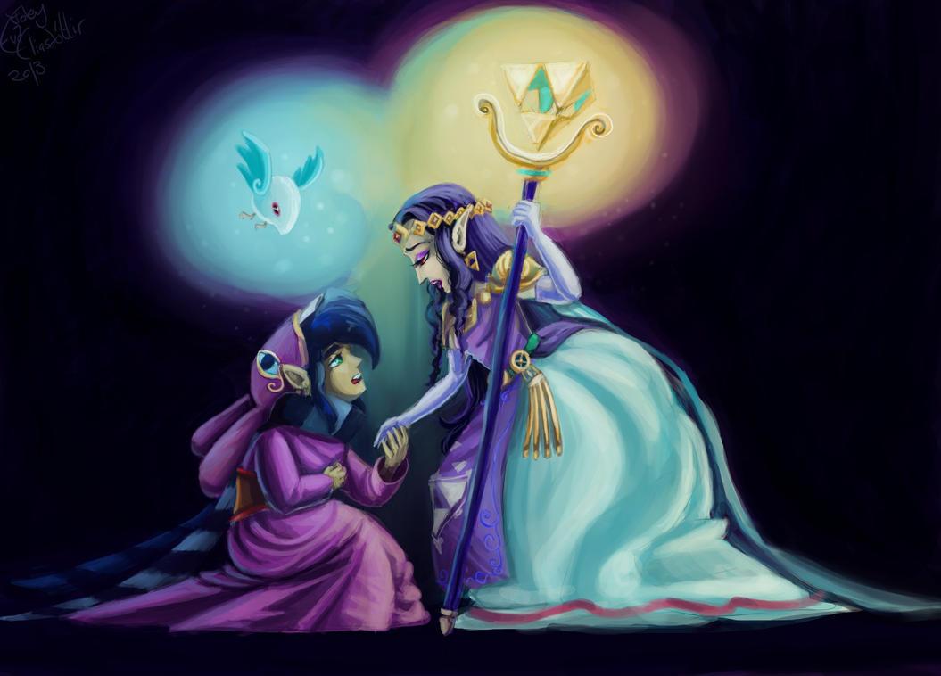 (SPOILER) Hilda and Ravio by Evanatt
