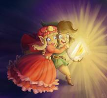 Zelda and Link by Evanatt