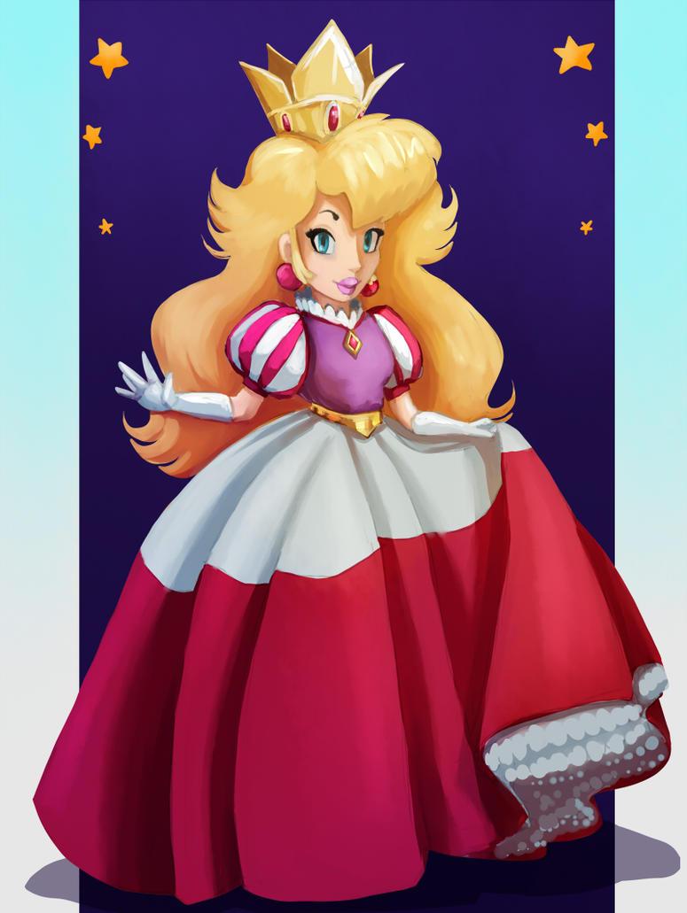 Royal Dress Princess Peach By Evanatt On DeviantArt