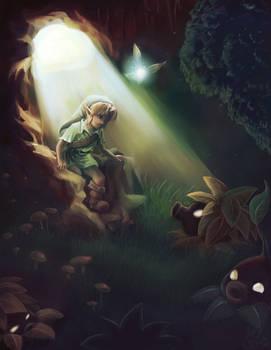 The Deku underground cave